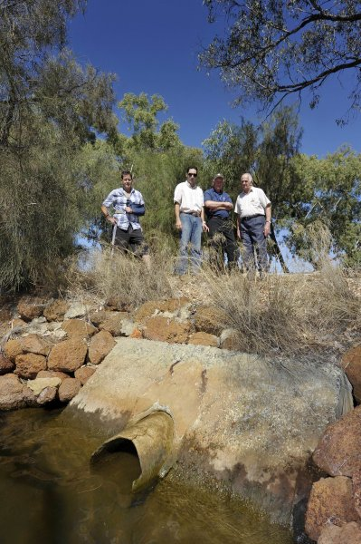 Bob Pond, Juan Montoya (Project Manager with Peel Harvey Catchment), John Pszczola (Dept of Water), & CLR Wally Barrett