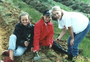Kangaroo Creek Landcare Group Planting Day at Goodchild's property - 2001