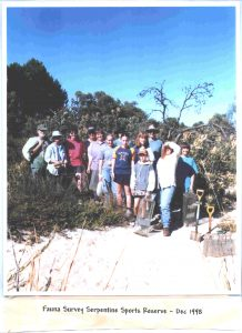 Fauna Survey at Serpentine Sports Reserve - 1998