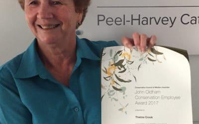 Winner of 2017 John Oldham Conservation Employee Award