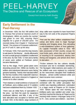 Early Settlement in the Peel-Harvey
