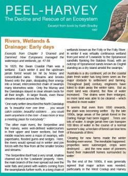 Rivers, Wetlands and Drainage – Early Days