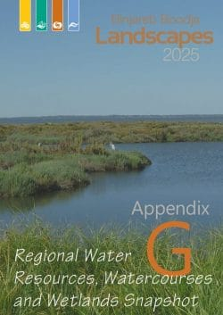 Appendix G Regional Water Resources Watercourses and Wetlands Snapshot