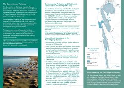 Peel-Yalgorup System brochure with map