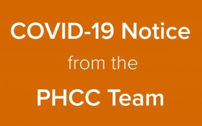 COVID-19 update from the PHCC Team