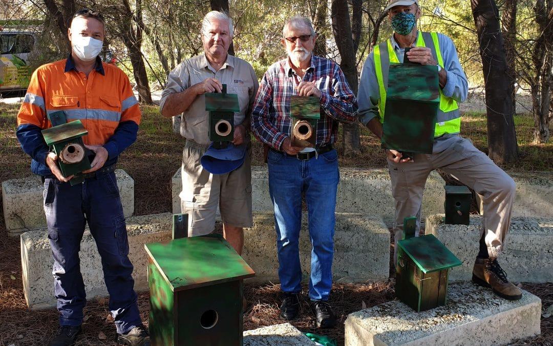 Nest boxes for Samphire Cove
